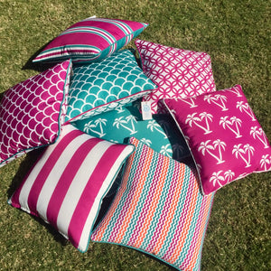 Pink Palmapple Outdoor Cushion Cover 45 x 45cm