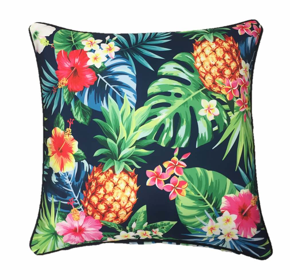 Tropicana Black Outdoor Cushion Cover 45 x 45cm