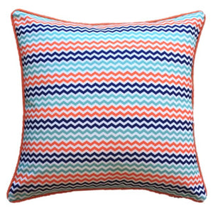 Turq Mini Chevron Outdoor Cushion Cover 45 x 45cm