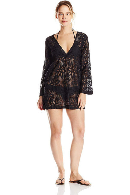 J. Valdi Women's Daisy Lace V Yoke Cover-Up Tunic