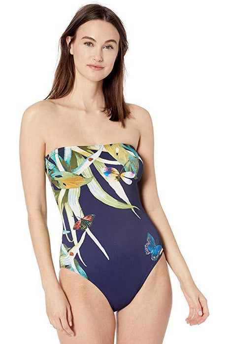 Vince Camuto Women's Bandeau One Piece Swimsuit