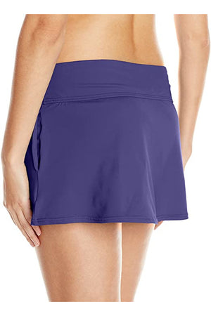 Anne Cole Women's Cover Up Pocket Skirt, Dark Purple, X-Small