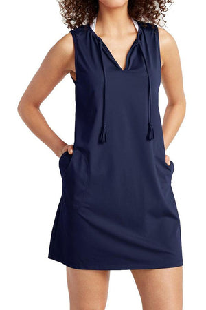 Tommy Bahama Pearl Split Neck Cover-Up Dress