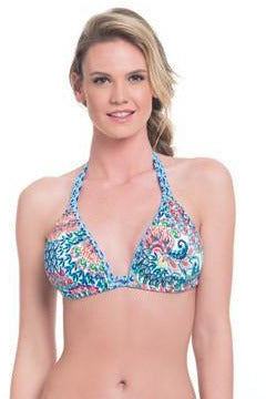 Blush by Profile- Women's Peacock Triangle D Cup Bikini Top