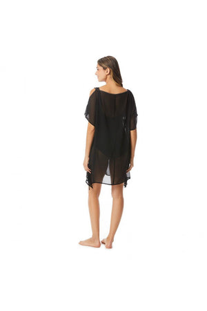 Contours Radiant Cold Shoulder Caftan Cover Up