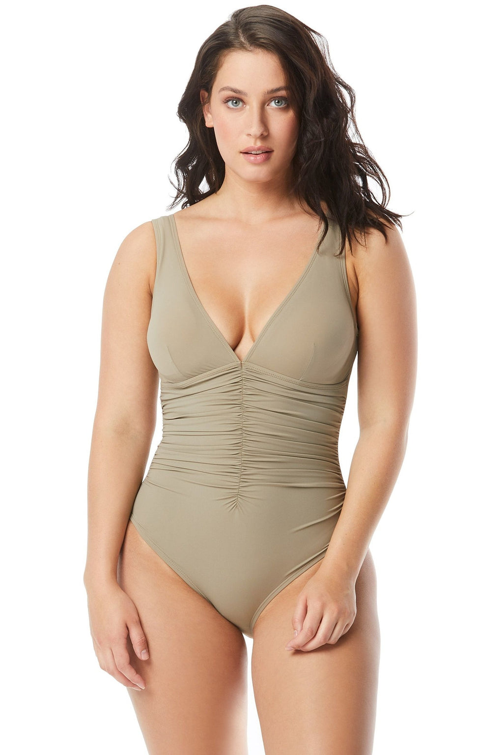 Contours by Coco Reef Solitaire V-Neck Underwire One Piece Swimsuit - Keepsake