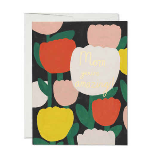Red Cap Cards- Amazing Tulips Mother's Day Card
