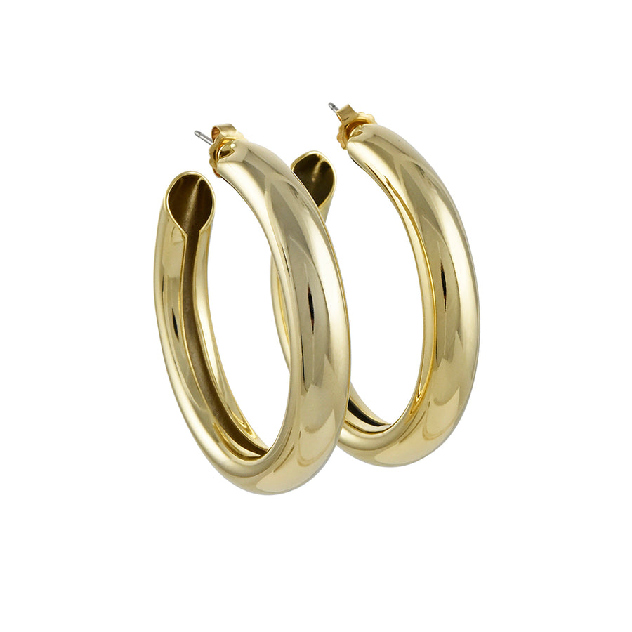 A.V. Max - Large Bella Hoops in Gold