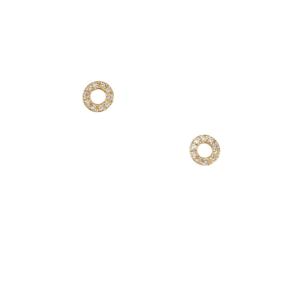Cp Collection - Open Circle Diamond Studs