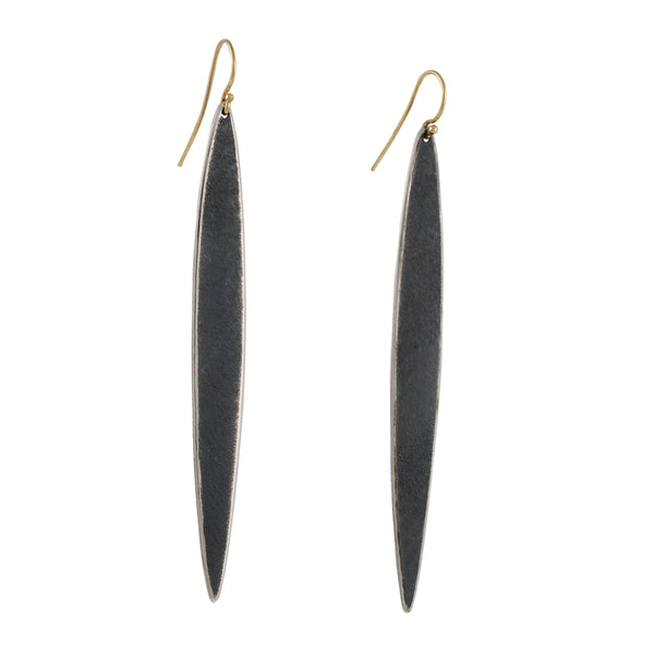Shaesby - Elongated Slice Earrings