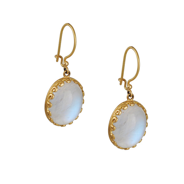 Steven Battelle - Magical Rainbow Moonstone Drop Earrings