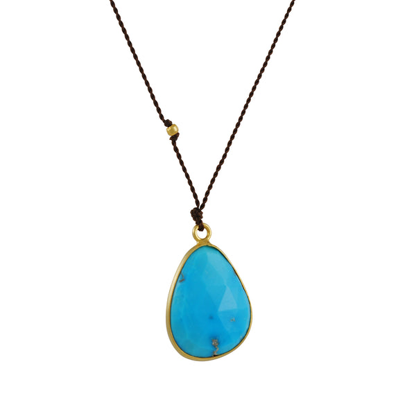 Margaret Solow Asymmetrical Turquoise Necklace