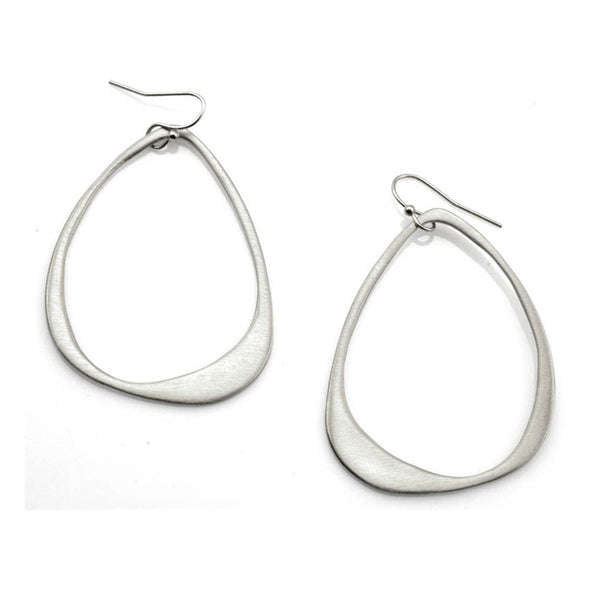 Philippa Roberts - Large Open Drop Earrings in Sterling Silver