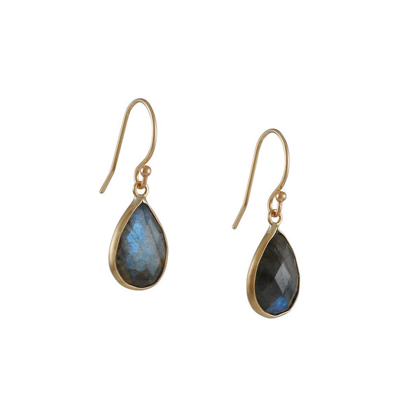 Margaret Solow - Teardrop Labradorite Earrings