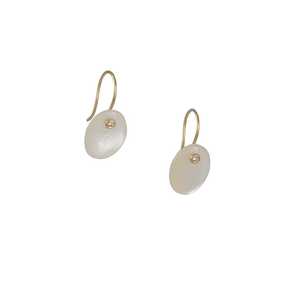 Carla Caruso - Mother of Pearl and Diamond Earrings