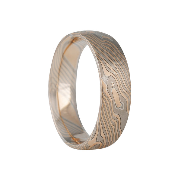 Chris Ploof - Oak Collection 6mm Mokume Gane Band