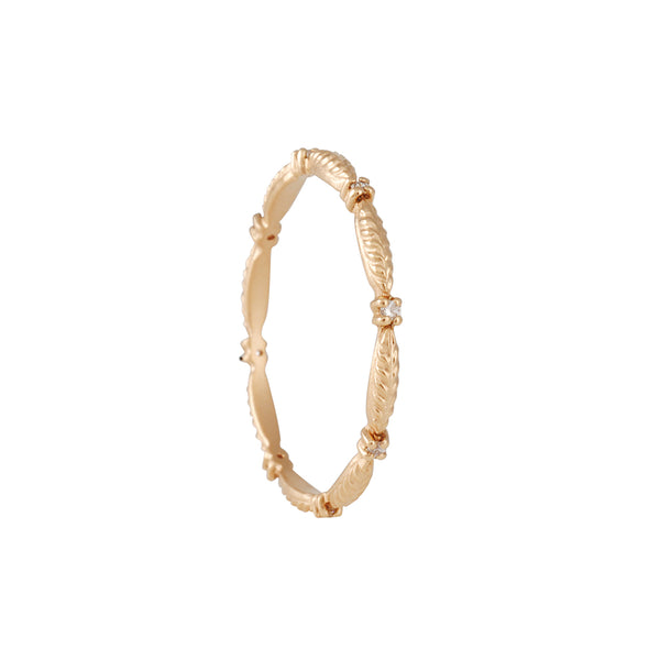 Megan Thorne- Slender Evergreen Eterinty Band in 18K Rose Gold