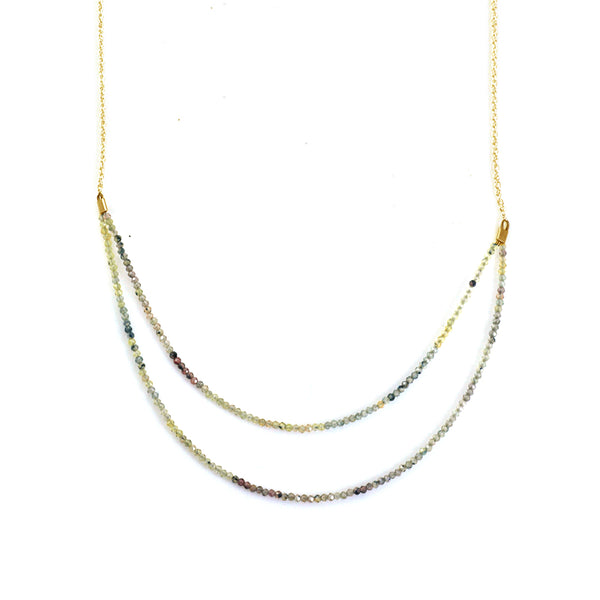 Philippa Roberts - Mutli-colored Sapphire Beaded Necklace