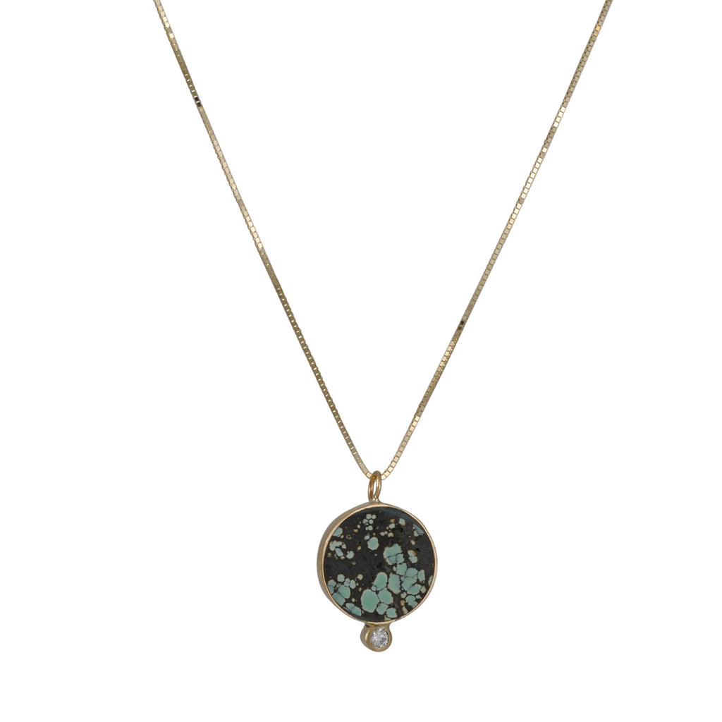 Young in the Mountains - Turquoise Solis Necklace