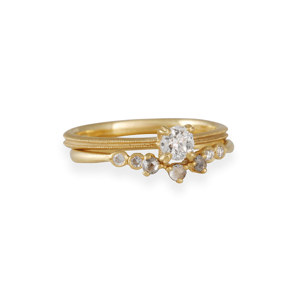 Jennifer Dawes - Rosecut Diamond Curve Band