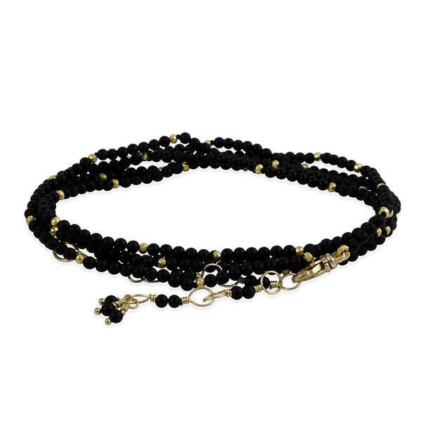 Hill House - Round Onyx Convertible Wrap Bracelet/Necklace