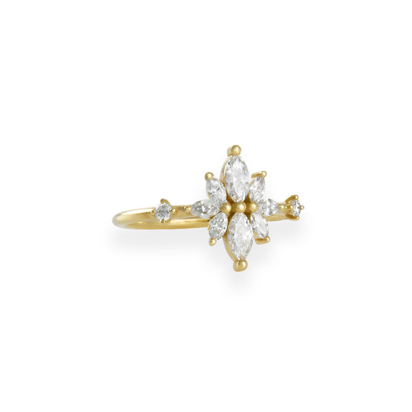 Artemer - Diamond Flower Cluster Ring