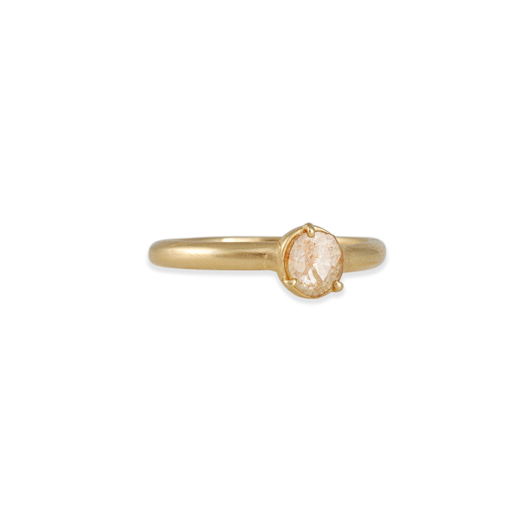 Atelier Narcé - Rose Cut Diamond Three Prong Ring