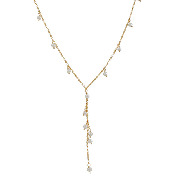 "Christina Stankard - Pearl Fringe ""Y""  Necklace"