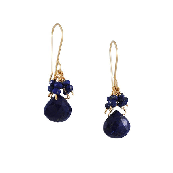 Debbie Fisher - Lapis Cluster Earrings