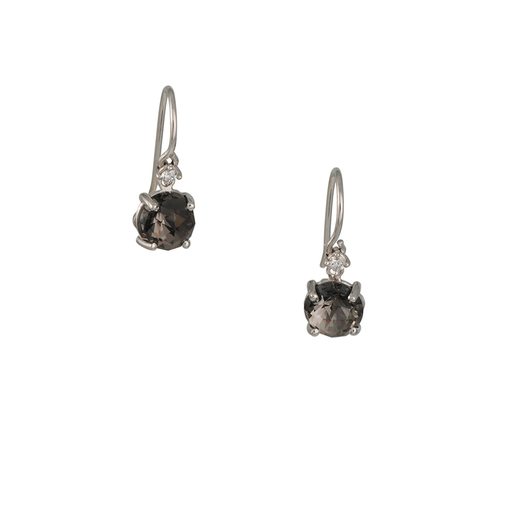 Suzanne Kalan - Cushion Cut Black Night Quartz Drop Earrings