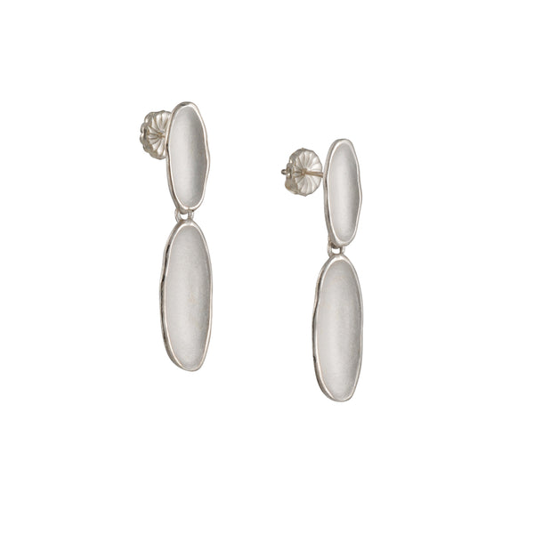 Sara Richardson - Double River Earrings in Sterling silver