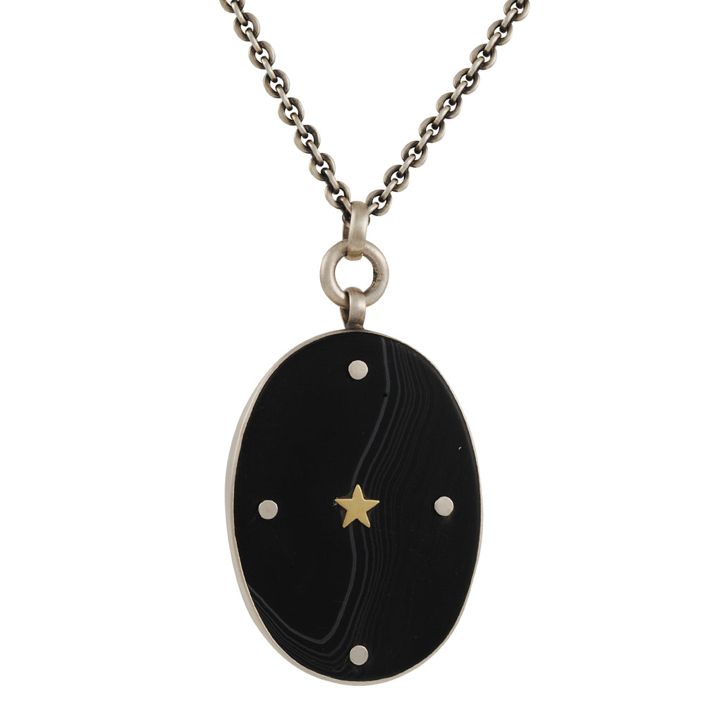 Jane Diaz - Star Branded Onyx Pendant