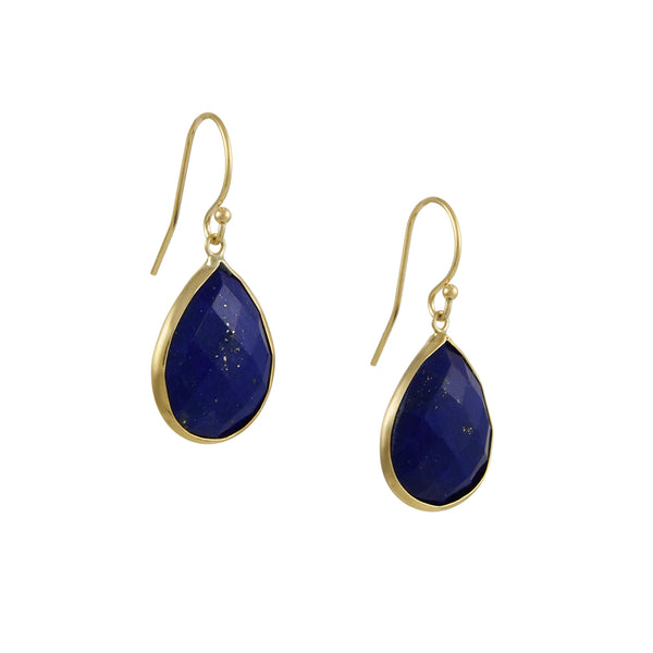 Margaret Solow - Teardrop Lapis Lazuli Earrings