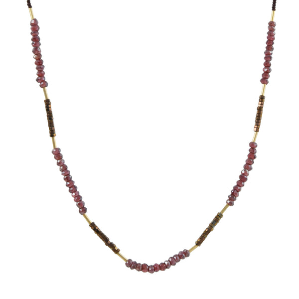 Debbie Fisher - Mystic Garnet Single Strand Necklace