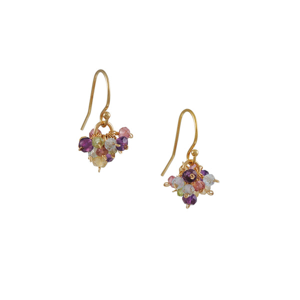 Christina Stankard - Pastel Gemstone Cluster Earrings