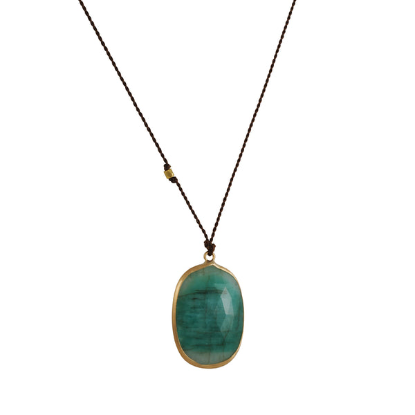Margaret Solow - Large Emerald Pendant Necklace