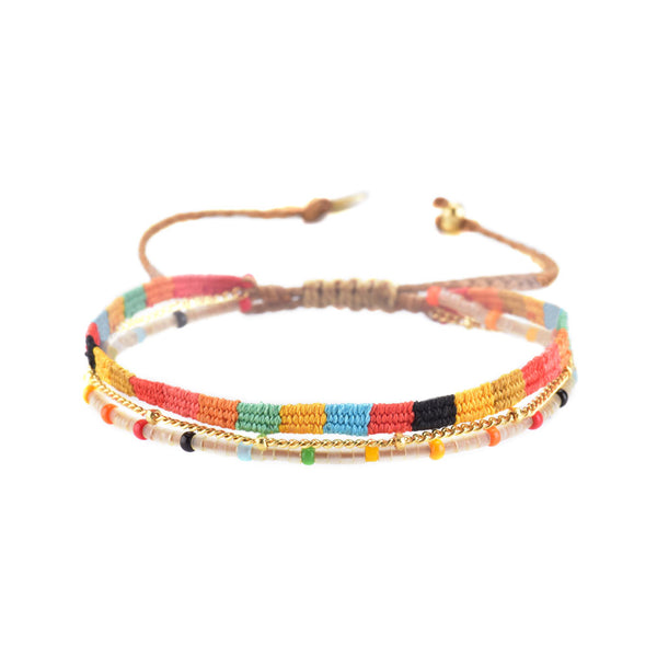 Mishky - Maya Bracelet With Color Blocked Palate