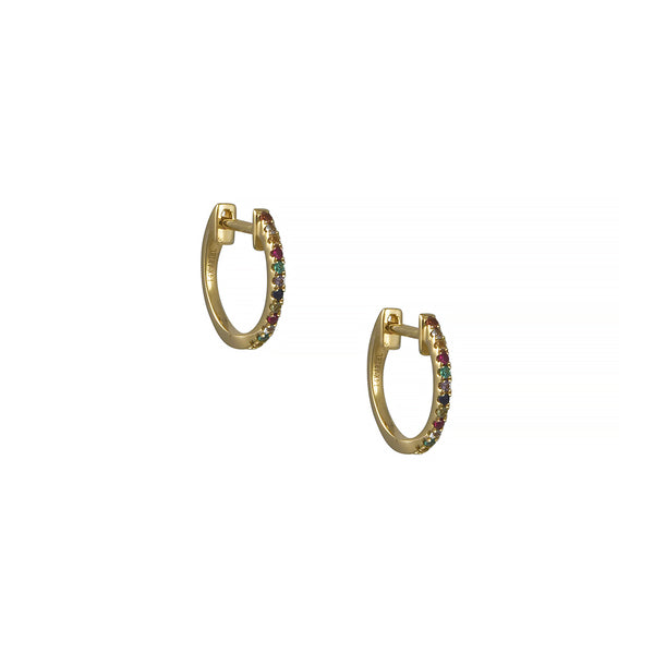 Ariel Gordon - Candy Crush Huggie Hoop Earrings in 14K Gold