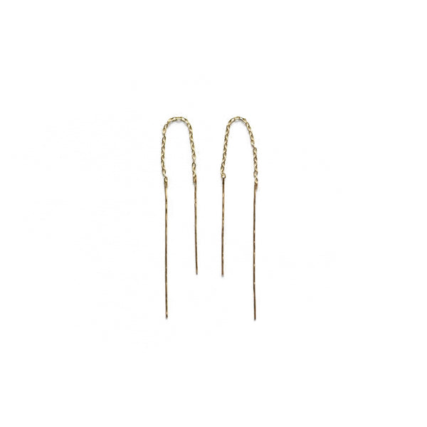 8.6.4 - Long Thread Thru Earrings in Goldfill