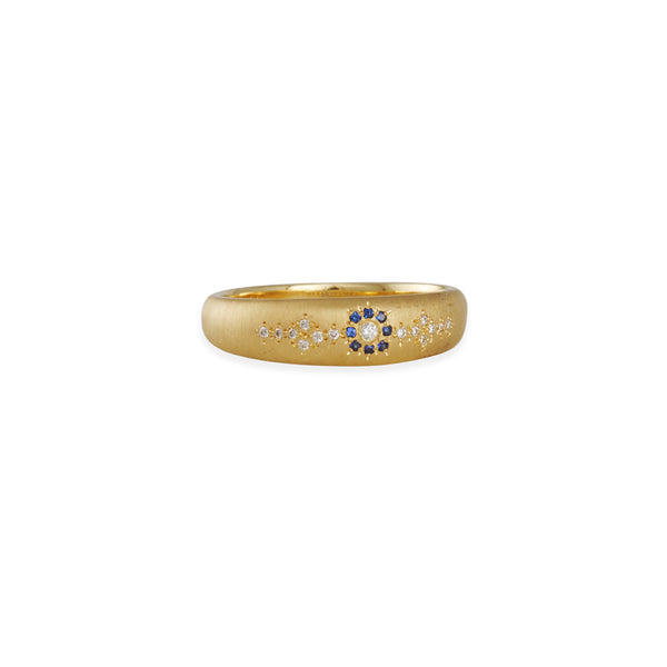 Adel Chefridi - Tapered Diamond Shimmer Floret Band
