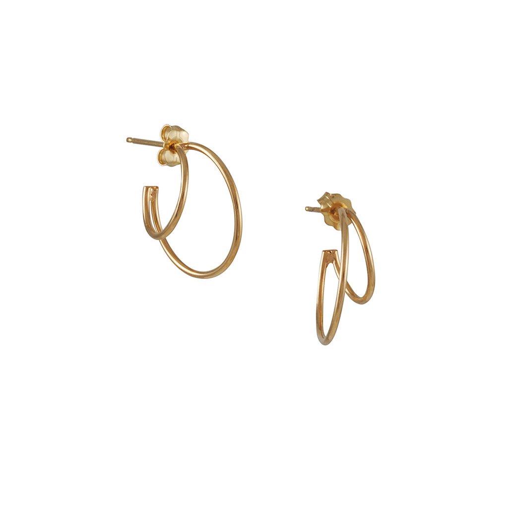 Zoe Chicco - Double Wire Hoop Earrings