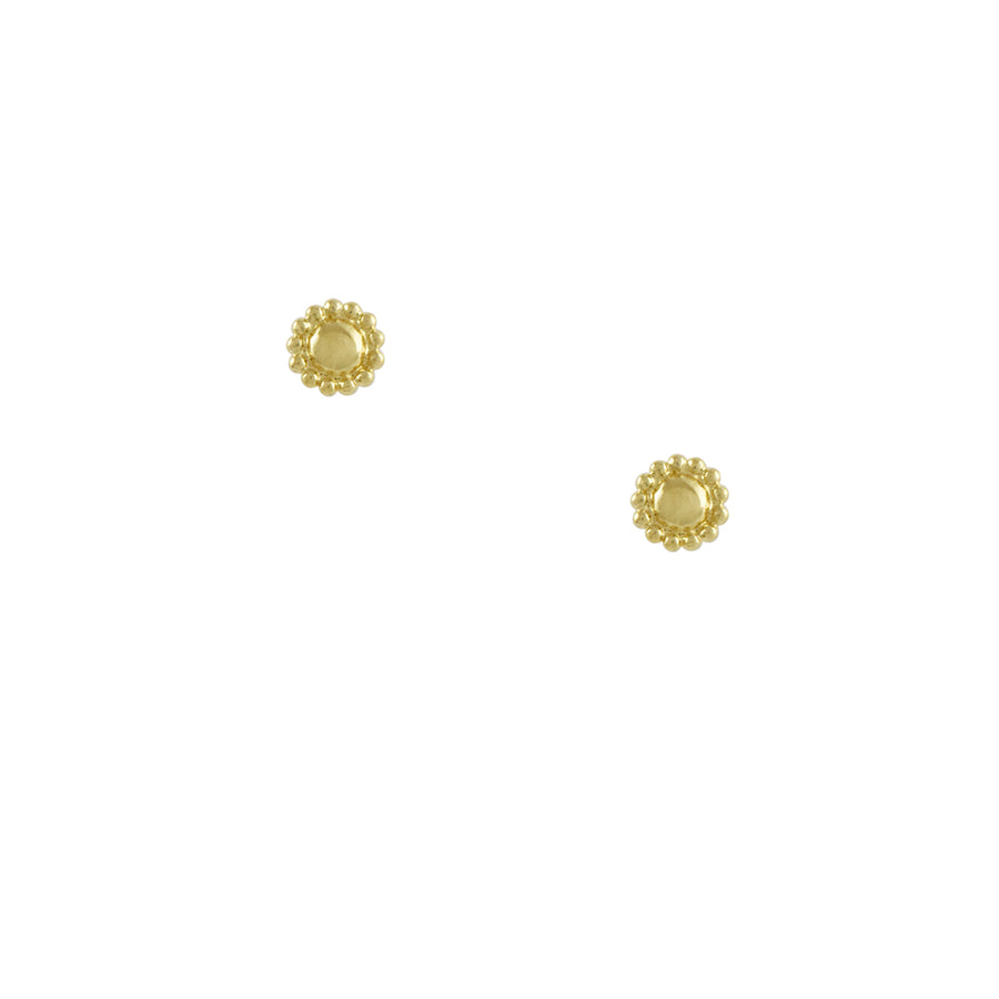 Tashi - Circle with Dots Stud Earrings