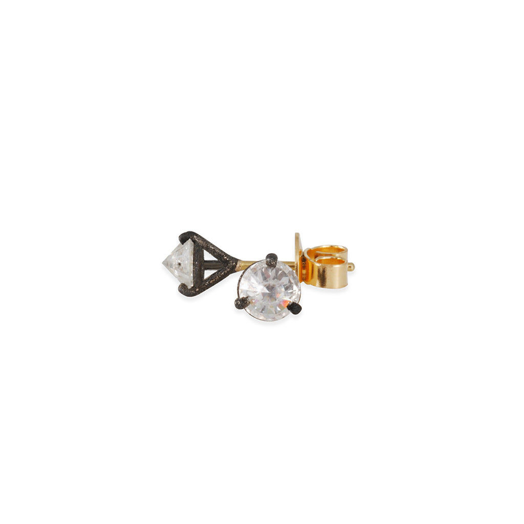TAP by Todd Pownell - 1.02ct tw Diamond Studs with Darkened Prong