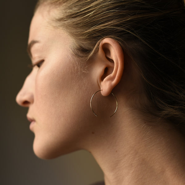 8.6.4 - Open Hoop Earrings in Sterling Silver