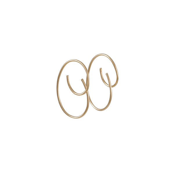 8.6.4 - Small Swirl Earrings in Goldfill