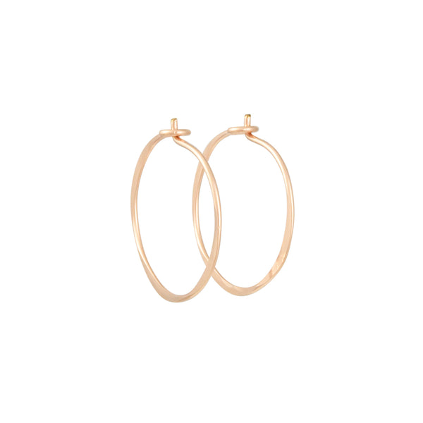 Christine Fail - Small Round Hoops in Rose Goldfill