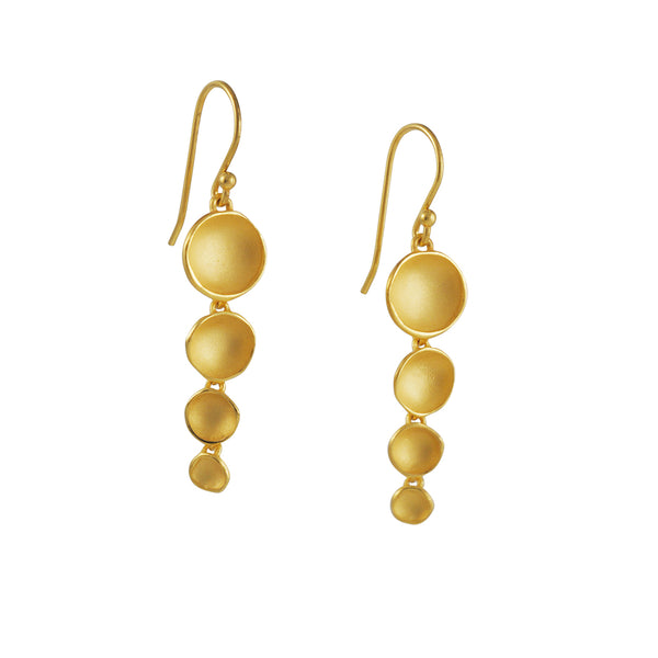 Sarah Richardson - Medium Duster Earrings in Gold Vermeil