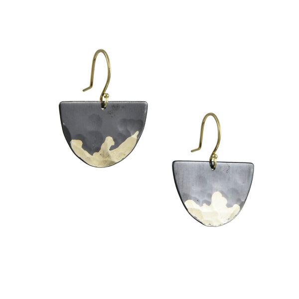 Sarah McGuire - Mixed Metal Gilded Half Moon Earrings