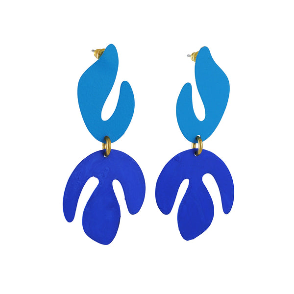 Sibilia - Flame Earrings In Mixed Blue