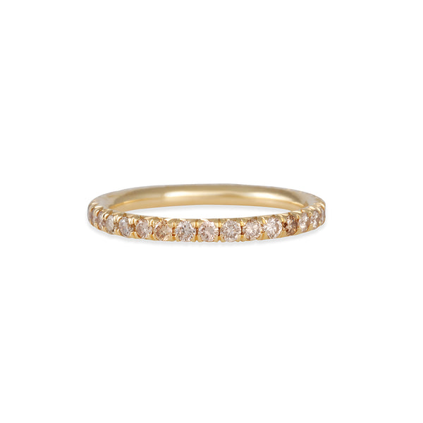 Diana Mitchell - French Set Eternity Band with 2mm Champagne Diamonds